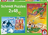 Schmidt Spiele 56153–Vikingo, 2x 48Piezas, clásica Puzzle