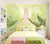 Selbstklebende Fototapete - Kinderbild - Fee - Pastell - 100x65 cm - Poster – Dekoration – Wandbild – Wandposter – Wand - Wanddeko