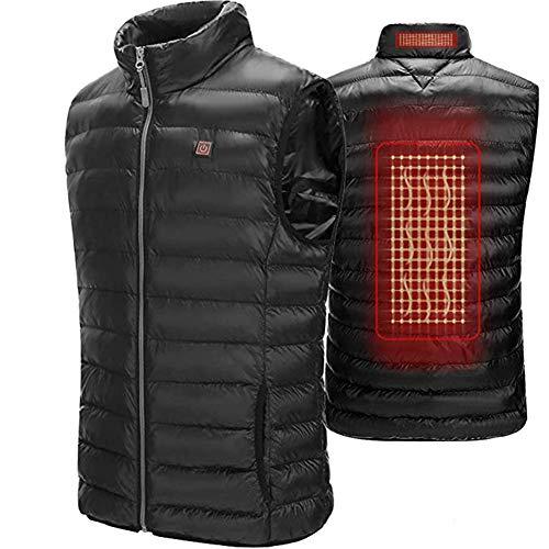 51lJJ0dZakL. SS500  - AUTRUN Men's Lightweight Heated Vest Battery Electric Washable Heating Down Warm Vest Down Cotton