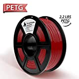 Rot PETG 3D-Filament, 3D-Druckmaterialien, Maßgenauigkeit +/- 0,02 mm, 2,2 LBS (1 kg) Spule