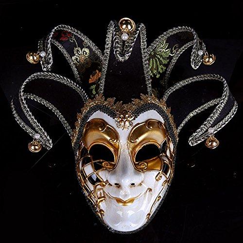 Kleid Kostüm Masquerade Ball - Roman griechischen venezianischen Masken Masquerade Maske Halloween Kostüm Ball Party Kleid Dekoration Supplies Maske mit Persönlichkeit Schwarz