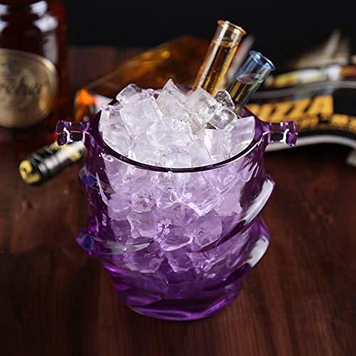 eimer,Wein Eimer Mit Tragegriff,Mini Champagner Eimer Eisbehälter Für Partei Bar Home-lila 18x13x16cm(7x5x6in) ()
