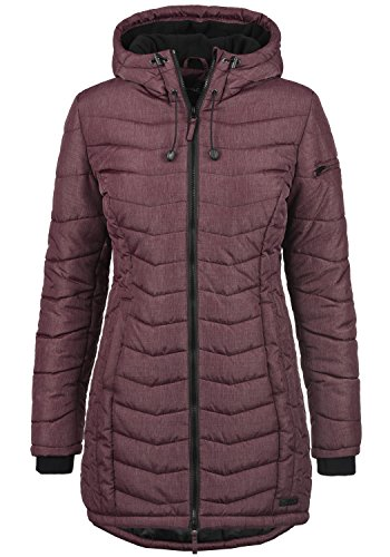 Blend she nelly donna cappotto invernale per le mezze stagioni con cappuccio foderato wine red (73812) 54
