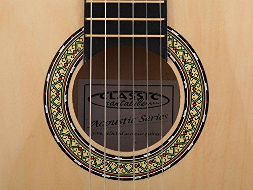 Classic Cantabile AS-851 1/2 Konzertgitarre Starter Set (Komplettes Anfänger Set mit Klassik Gitarre, Gigbag Tasche, Nylonsaiten, Lehrbuch/Schule inkl CD und DVD, 3x Plektren und Stimmpfeife) - 9