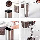 #8: Generic New 1Pc Portable Manual Coffee Grinder Coffee Maker Ceramic Corn Stainless Steel Hand Burr Mill Grinder Coffee Grinding Machine