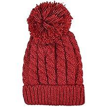 Maglieria di lana cappello caldo più di velluto iParaAiluRy unisex alla moda morbido Cannabis Cappellino in inverno e primavera