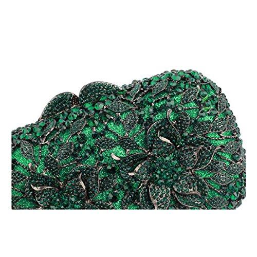 Weiblich Abendtasche Luxus Diamanten Kristall Handtasche Green