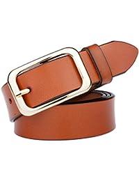 Cinture casual in pelle Cintura donna in pelle con fibbia in oro Cintura  casual in jeans f947f72a077
