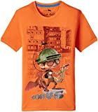 Status Quo Cubs Boys' T-Shirt (CB-RN-404_Lt.Orange_24)