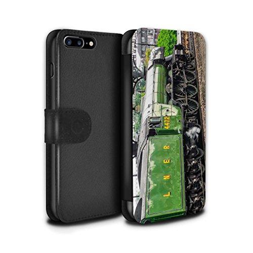 Stuff4 Coque/Etui/Housse Cuir PU Case/Cover pour Apple iPhone 7 Plus / Scotsman/Vert Design / Locomotive Vapeur Collection Scotsman/Vert