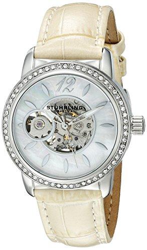 Stuhrling Original 856.01 - Orologio da polso, donna, pelle, colore: beige