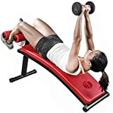 Wanlianer Übungsbank Gym Home Strength Ausrüstung Bauchmuskel Board Sit-ups Einstellbare Bauchmuskel Training Board (Farbe : Rot)