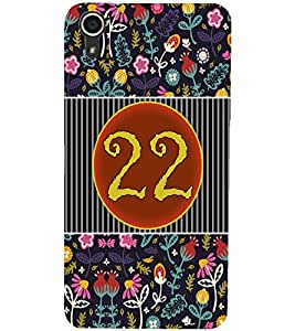 PrintDhaba Numerology Number 22 D-3110 Back Case Cover for HTC DESIRE 728 (Multi-Coloured)