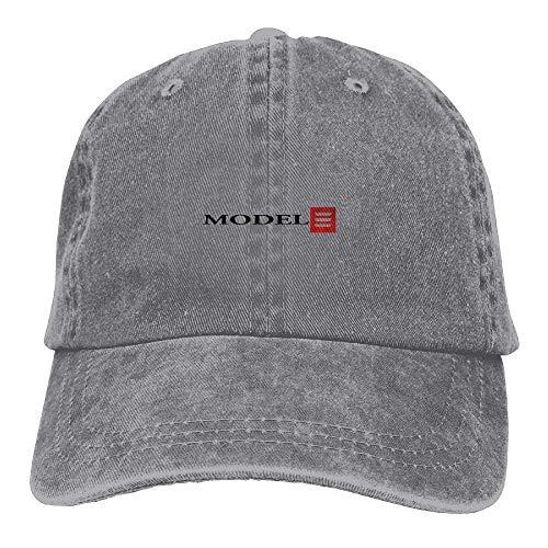 Bgejkos Tesla Model 3 Red Logo Unisex Adult Baseball Cap Trucker Hat Cowboy Hat Hip Hop Sports Snapback JH3871
