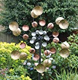 Creekwood 48040 Cosmos Wind Spinner 170cm Height, Copper, 26 x 50 x 170