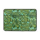 Proud Clothing Tropical Leaves Doormat, Entry Way Indoor Outdoor Door rug with Non Slip Backing, (31.5 X 19.5 inch)