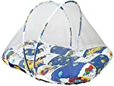 #1: TruGood Newborn Baby Boy's Bed Set Mattress with Mosquito Net & Pillow Bedding (Blue & Purple)