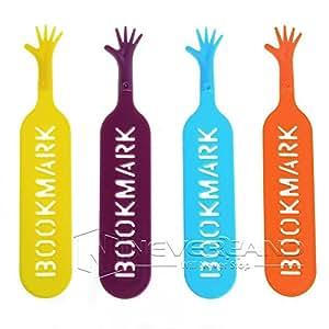 Preadvisor (TM) Il libro Mark help me segnalibro novità divertente Bookworm Gift cancelleria colore casuale 1SET/4pcs C10