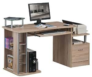 SixBros. Scrivania ufficio porta pc quercia effetto legno - S-202A/1845