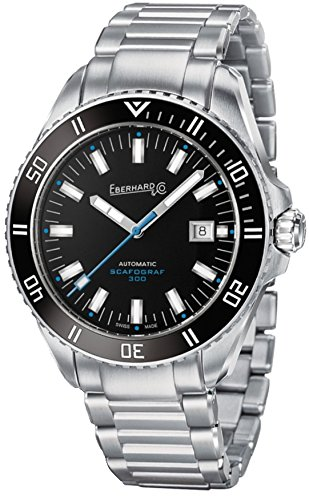 Watch Eberhard Scafograf 300 Automatic Chassis Steel Déployment Clasp Déclic 41034.1 CAD