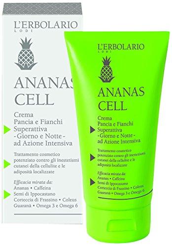L'Erbolario Ananas Cell superaktive Bauch und Hüft Creme, 1er Pack (1 x 150 ml)