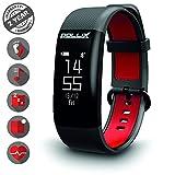 Pollix Pro: Fitness Activity Tracker - Pulsuhr mit Herzfrequez – IPX7 Fitness Armband Uhr mit Schrittzähler & Musikstuerung & Push-Benachrichtigung - Smart Watch für iOS & Android (Pro-M Black)