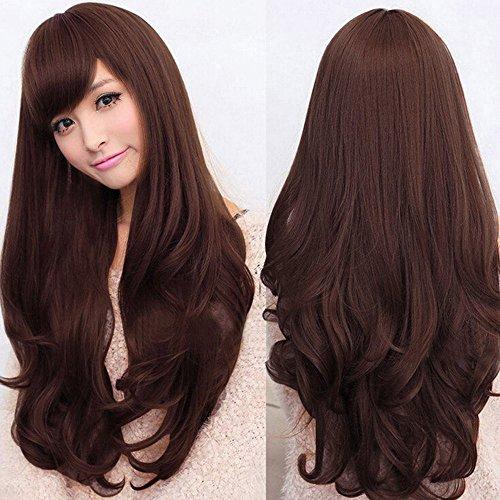 Femme Mode Lolita ondulés longue pleine Perruque résistant à la chaleur Cosplay Cheveux