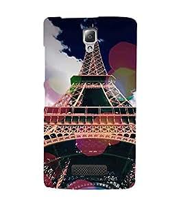 FUSON Eiffel Tower Paris Vintage 3D Hard Polycarbonate Designer Back Case Cover for Lenovo A2010