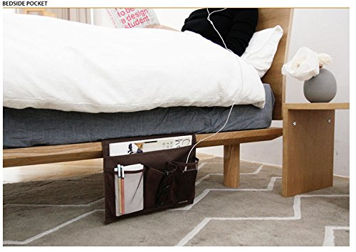 kleitung comodino Storage letto Organizer da appendere tasche per orologio da polso cellulare Occhiali da sole magaazines titolare Sofa Borsa di stoccaggio Bed Organizer per libro ricambio cellulare rivista