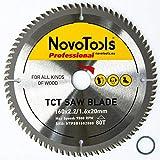 NOVOTOOLS Lame de scie circulaire à bois 160 x 20 mm x 80 dents pour scies Festool, Bosch, Makita,...