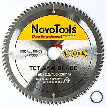 Saxton TCT Lame de scie à bois circulaire 250 mm x 30 x 80 dents pour...
