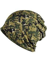 TININNA 1Pcs Mode Multifonction Beanie Slouch Camouflage Chapeau Bonnet et  Écharpe de Cercle Cache-Col Tour de Cou pour Femme… da5fa3278a9