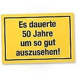 DankeDir! 50 Jahre - Gutes Aussehen, Kunststoff Schild - Geschenk 50. Geburtstag, Geschenkidee Geburtstagsgeschenk Fünzigsten, Geburtstagsdeko/Partydeko / Party Zubehör/Geburtstagskarte