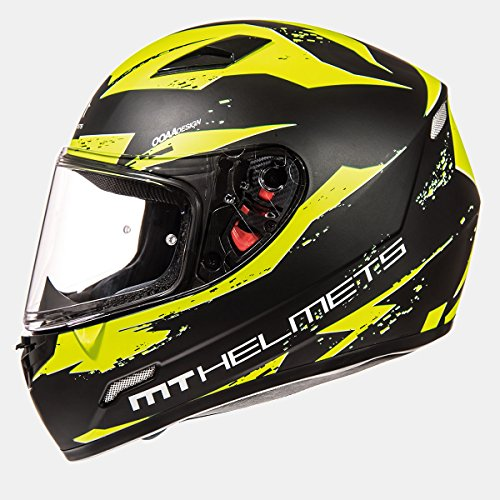 MT - Casco Integral MT MUGELLO Vapor Negro/Amarillo Talla XL