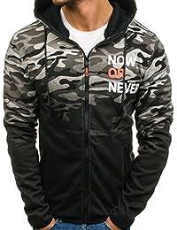 BOLF – Sweatshirt à capuche – motif militaire – jogger – sportif – Homme 1A1