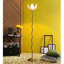 Rose Bamboo Antique Gold Zig Zag Floor Lamp /Standing Lamp By New Era For Living Room /Drawing Room/Office/Bedroom/Decoration /Corner/Gift/Lobby