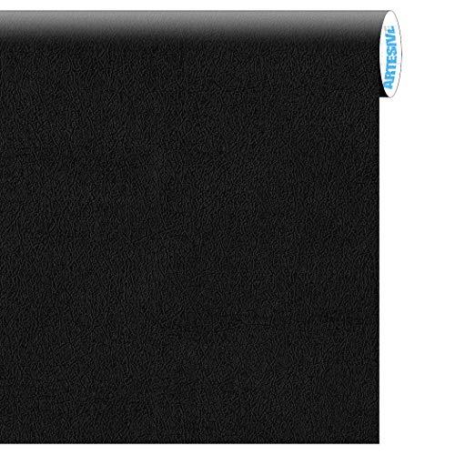 Artesive tec-022 pelle nera larg. 30 cm x 2,5 mt. pellicola adesiva cuoio