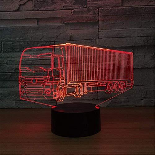 Optische Täuschung 3D LKW Nacht Licht 7 Farben Andern Sich USB Adapter Touch Schalter Dekor Lampe LED Lampe Tisch Kinder Geburtstag Weihnachten Geschenk