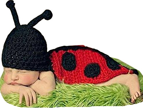 Demarkt Kinder Baby Strick Mütze Fotoshooting Neugeborene Käfer Muster Design Hut Kostüm Hüte