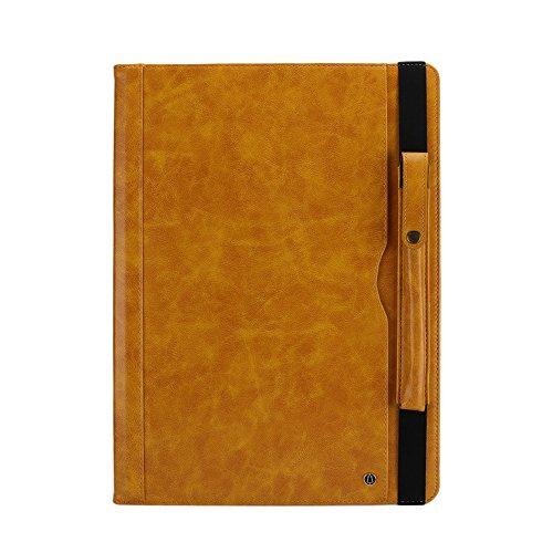 Fusutonus iPad Pro Hülle, Licht und Dünn Schutzhülle mit Ständer Funktion und Rundumschutz – Yellow