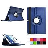 COOVY® Cover für Samsung Galaxy TAB 4 10.1 SM-T530 SM-T531 SM-T535 Rotation 360° SMART HÜLLE Tasche ETUI CASE Schutz STÄNDER | Farbe dunkelblau