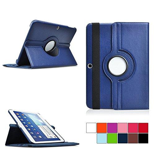 COOVY Custodia per Samsung Galaxy TAB 4 10.1 SM-T530 SM-T531 SM-T535 SMART 360° GRADI DI ROTAZIONE COVER SUPPORTO PROTEZIONE CASE | Colore blu scuro
