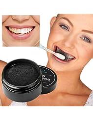 charbon actif blanchiment des dents | poudre de charbon actif 30g | Active Coco | dentifrice au charbon actif (activated charcoal teeth whitening) (Noir)