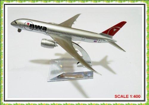 boeing-787-nwa-airlines-metal-plane-model-16cm