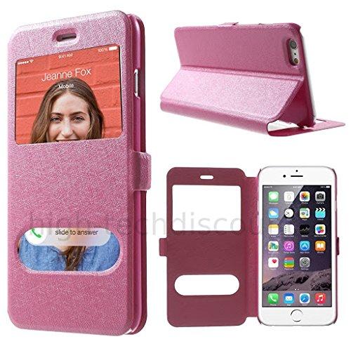 Housse etui coque portefeuille view case pour Apple iPhone 6S (4.7) + film ecran - ROSE Rose view