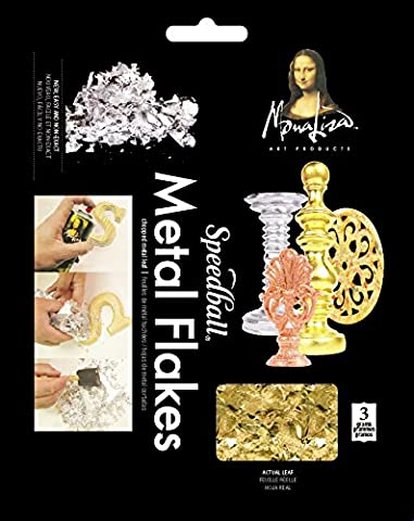 Speedball Art Products Mona Lisa Metal Leaf Flakes 3g-Gold, Other, Multicoloured