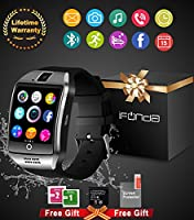 Bluetooth Smart Watch With Camera Waterproof Smartwatch Touch Screen Phone Unlocked Watch Cell Phone Smart Wrist Watch Cell Phone Watch Sports Fitness Tracker For Android Phones Samsung IOS Iphone 7 Plus 6S iPhone X Men Women Kids