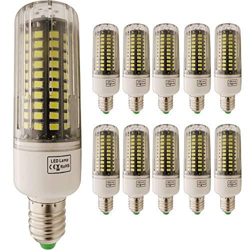 Mais Licht, E27 12W 120 SMD 5736 Cool White AC220。Abstrahlwinkel:360º rbessern Sie die Helligkeit in Innenräumen und Den Energieverbrauch senken(10 eine Baugruppe) - Lumen Glühlampe Baugruppe