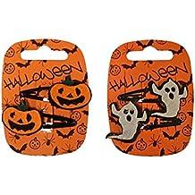 Confezione da 2Ragazze Halloween mollette per capelli hairband Halloween Fancy (Halloween Scrunchie)