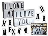 LED Lightbox Anzeigetafel Beleuchtet Leuchtschild 60 Buchstaben A5 Deko